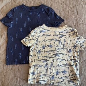 Two GAP Graphic T-shirts
